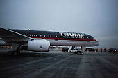 United States President-elect Donald J. Trump's aircraft waits on the tarmac at Laguardia Airport to fly him to an event in Wisconsin at Laguardia Airport in Queens, New York, U.S., on Tuesday, December 13, 2016. <br /> Credit: John Taggart / Pool via CNP