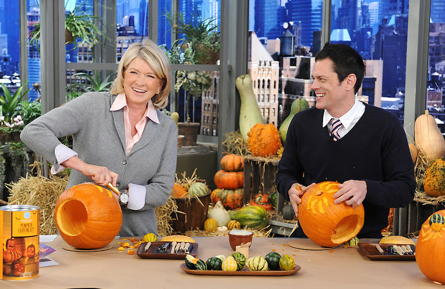 "Martha Stewart and Johnny Knoxville are seen during the production of ""The Martha Stewart Show"" in New York on Tuesday, October 12, 2010. Photo: David M. Russell/The Martha Stewart Show"