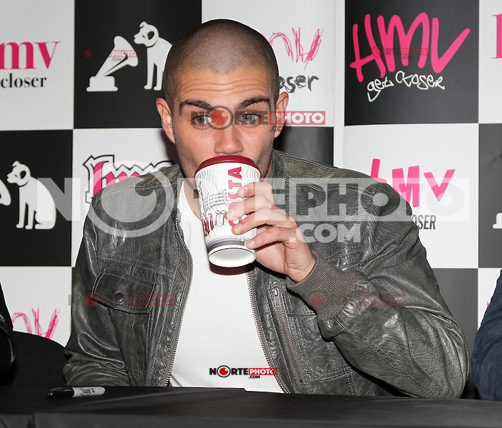.WORLD RIGHTS.<br /> English-Irish boy-band The Wanted are pictured making a promotional appearance at the HMV in Manchester for their new single 'I Found You' today..NOVEMBER 9th 2012.<br /> (REF:MMY/NortePhoto)<br /> 125180