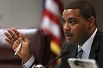 Nevada Senate Majority Leader Steven Horsford, D-North Las Vegas, speaks in committee at the Legislature in Carson City, Nev. on Thursday, March 10, 2011..Photo by Cathleen Allison