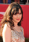 LOS ANGELES, CA - JULY 11: Zooey Deschanel arrives at the 2012 ESPY Awards at Nokia Theatre L.A. Live on July 11, 2012 in Los Angeles, California.