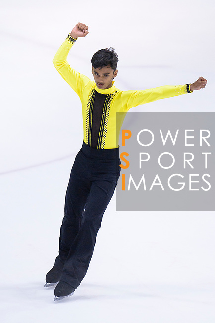 Priyam Tated of India competes in Basic Novice Subgroup B Boys Free Skating during the Asian Open Figure Skating Trophy 2017 on August 02, 2017 in Hong Kong, China. Photo by Marcio Rodrigo Machado / Power Sport Images