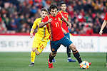 Romania's Dragomir Vlad and Spain's Mikel Oyarzabal   during the International Friendly match on 21th March, 2019 in Granada, Spain. (ALTERPHOTOS/Alconada)