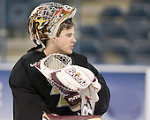 Adam Reasoner - The Boston College Eagles practiced on Wednesday, April 5, 2006, at the Bradley Center in Milwaukee, Wisconsin, in preparation for their 2006 Frozen Four Semi-Final game against the University of North Dakota.