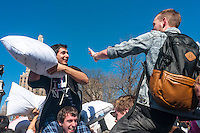 New York, NY, USA.  6th April 2013 International Pillow Fight Day in Washington Square Park.