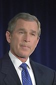 Washington, DC - December 28, 2000 -- United States President-elect George W. Bush at a Washington, DC press conference where he named Donald Rumsfeld as Secretary of Defense.<br /> Credit: Ron Sachs / CNP