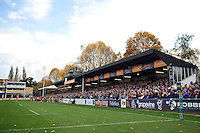 A general view of the Bath Ales stand. LV= Cup match, between Bath Rugby and London Welsh on November 1, 2014 at the Recreation Ground in Bath, England. Photo by: Patrick Khachfe / Onside Images