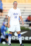 09 September 2011: Duke's Nick Palodichuk. The University of Virginia Cavaliers defeated the Duke University Blue Devils 1-0 at Koskinen Stadium in Durham, North Carolina in an NCAA Division I Men's Soccer game.