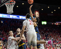 TUCSON, AZ - February 11, 2017: Cal Bears Men's Basketball team vs. the Arizona Wildcats at McKale Center. Final score, Cal Bears 57, Arizona Wildcats 62