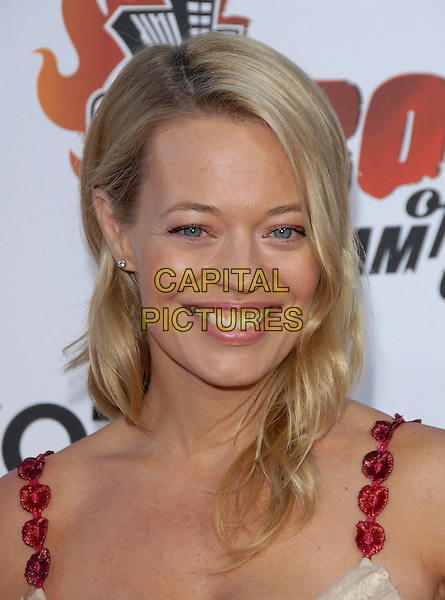 JERI RYAN .attends The Comedy Central's Roast of William Shatner held at CBS STudios in Studio City, California, USA, .August 13, 2006.portrait headshot beige gold cream dress red straps jerri  jerry eyes to camera.Ref: DVS.www.capitalpictures.com.sales@capitalpictures.com.©Debbie VanStory/Capital Pictures