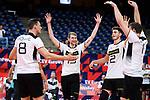 16.09.2019, Lotto Arena, Antwerpen<br />Volleyball, Europameisterschaft, Deutschland (GER) vs. …sterreich / Oesterreich (AUT)<br /><br />Jubel Marcus Bšhme / Boehme (#8 GER), Simon Hirsch (#13 GER), Tobias Krick (#2 GER), Christian Fromm (#1 GER)<br /><br />  Foto © nordphoto / Kurth