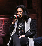 "Raven Thomas during the ""Hamilton"" eduHAM Student Matinee Q & A  at the Richard Rodgers Theatre on February 13, 2019 in New York City."