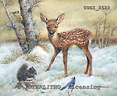 GIORDANO, CHRISTMAS ANIMALS, WEIHNACHTEN TIERE, NAVIDAD ANIMALES, paintings+++++,USGI2522,#XA# deer