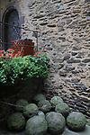 Cannonballs piled at Burg Eltz Castle along the Mosel River Valley, France