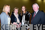 Anne McEllistrim puts a smile on despite her disapointment with her supporters l-r: Marie Cronin, Margaret O'Connor and Maurice Burke in Killarney on Sunday evening