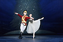 London, UK. 13.12.2016. English National Ballet presents NUTCRACKER, at the London Coliseum. Choreography by Wayne Eagling, based on a concept by Toer van Schayk and Wayne Eagling, music by Pyotr Ilyich Tchaikovsky, design by Peter Farmer, lighting by David Richardson. Picture shows: James Forbat (Nutcracker), Alina Cojocaru (Clara). Photograph © Jane Hobson.,