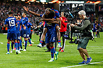 Paul Pogba of Manchester United celebrates after the UEFA Europa League Final match at the Friends Arena, Stockholm. Picture date: May 24th, 2017.Picture credit should read: Matt McNulty/Sportimage