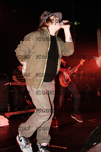 FALL OUT BOY - vocalist Patrick Stump - performing live with Gym Class Heroes on the Decaydance Tour at the Apollo Hammersmith, London UK - 22 Aug 2007.  Photo credit: George Chin/IconicPix