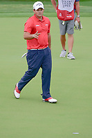 Patrick Reed (USA) reacts to sinking his birdie putt on 17  during round 1 of the Valero Texas Open, AT&amp;T Oaks Course, TPC San Antonio, San Antonio, Texas, USA. 4/20/2017.<br /> Picture: Golffile | Ken Murray<br /> <br /> <br /> All photo usage must carry mandatory copyright credit (&copy; Golffile | Ken Murray)