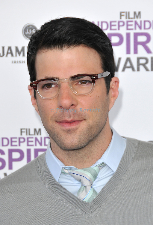 Zachary Quinto at the 2012 Film Independent Spirit Awards held at Santa Monica Beach, CA.. February 25, 2012