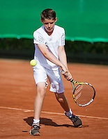 August 9, 2014, Netherlands, Rotterdam, TV Victoria, Tennis, National Junior Championships, NJK,  Jens Hoogendam (NED)<br /> Photo: Tennisimages/Henk Koster