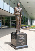 Statue of the 38th President of the United States, Gerald R. Ford, placed in front of the Gerald R. Ford Presidential Library and Museum in Grand Rapids, Michigan on Sunday, June 30, 2019.<br /> Credit: Ron Sachs / CNP