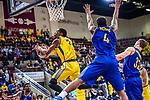 Kerron JOHNSON (#3 MHP Riesen Ludwigsburg) \Armani MOORE (#4 EWE Baskets Oldenburg) \Mickey MCCONNELL (#32 EWE Baskets Oldenburg) \ beim Spiel MHP RIESEN Ludwigsburg - EWE Baskets Oldenburg.<br /> <br /> Foto &copy; PIX-Sportfotos *** Foto ist honorarpflichtig! *** Auf Anfrage in hoeherer Qualitaet/Aufloesung. Belegexemplar erbeten. Veroeffentlichung ausschliesslich fuer journalistisch-publizistische Zwecke. For editorial use only.