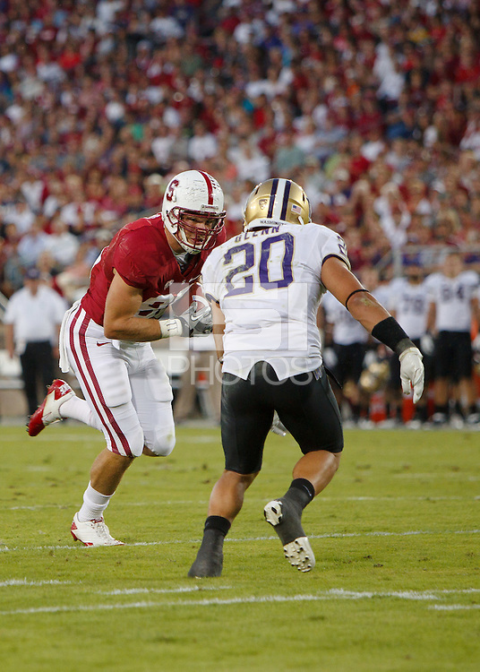 STANFORD, CA - October 22, 2011:  Zach Ertz in Stanford's 65-21 victory over Washington.