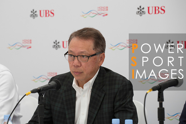 Dr. Caleb Chan, Founder of Friends of Asia Hong Kong speaks during the Charity Cup press conference on the sidelines of the 58th UBS Hong Kong Golf Open as part of the European Tour on 10 December 2016, at the Hong Kong Golf Club, Fanling, Hong Kong, China. Photo by Vivek Prakash / Power Sport Images
