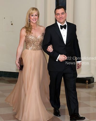 Joe Liemandt, President and CEO, Trilogy, and Andrea Liemandt, arrive for the Official Dinner in honor of Prime Minister David Cameron of Great Britain and his wife, Samantha, at the White House in Washington, D.C. on Tuesday, March 14, 2012.  Mr. Liemandt is one of United States President Barack Obama's biggest campaign fundraisers..Credit: Ron Sachs / CNP.(RESTRICTION: NO New York or New Jersey Newspapers or newspapers within a 75 mile radius of New York City)