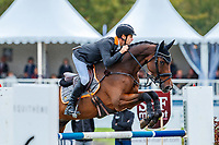 AUS-Christopher Burton rides Coup de Coeur Dudevin during the Showjumping for the CCI3*-L7YO. 2019 FRA-Mondial du Lion - FEI World Breeding Championships. Le Lion d'Angers. France. Sunday 20 October. Copyright Photo: Libby Law Photography
