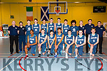 Scotish Basketball under 16 boys team at the International friendly ahead of European Championship, playing against Ireland at Castleisland Community Centre on Friday
