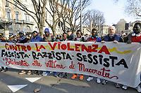 - Milano, 10 febbraio 2018, manifestazione antifascista e antirazzista<br /> <br /> -  Milan, 10 February 2018, anti-fascist and anti-racist demonstration