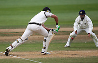 NZ's James Franklin plays a shot to Gautam Gambhir during day four of the 3rd test between the New Zealand Black Caps and India at Allied Prime Basin Reserve, Wellington, New Zealand on Monday, 6 April 2009. Photo: Dave Lintott / lintottphoto.co.nz.