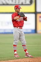 Shortstop Nico Vasquez (26) of the Johnson City Cardinals on defense at Dan Daniels Park in Danville, VA, Sunday July 27, 2008.