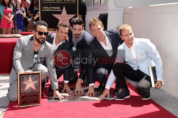 "AJ McLean, Howie Dorough, Kevin Richardson, Nick Carter, Brian Littrell<br /> at the ""Backstreet Boys"" Star on the Walk of Fame, Hollywood, CA 04-22-13<br /> David Edwards/Dailyceleb.com 818-249-4998"