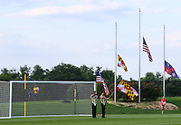 Boyds, MD - Saturday July 09, 2016: Color Guard prior to a regular season National Women's Soccer League (NWSL) match between the Washington Spirit and the Chicago Red Stars at Maureen Hendricks Field, Maryland SoccerPlex.