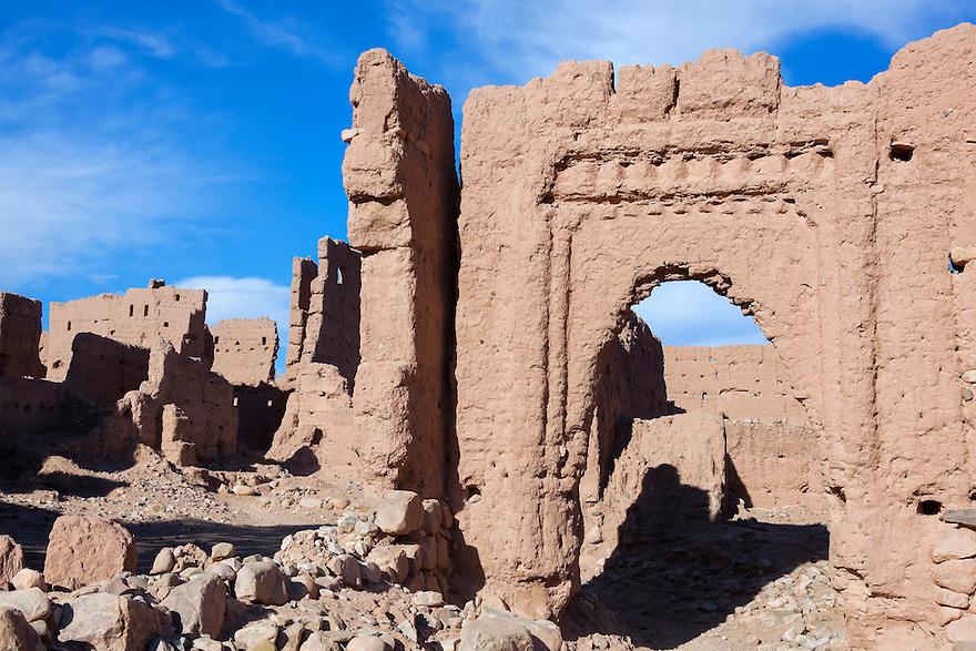 Kasbah ruins in the Draa Valley.