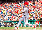 8 July 2017: Washington Nationals outfielder Adam Lind in action against the Atlanta Braves at Nationals Park in Washington, DC. The Braves shut out the Nationals 13-0 to take the third game of their 4-game series. Mandatory Credit: Ed Wolfstein Photo *** RAW (NEF) Image File Available ***