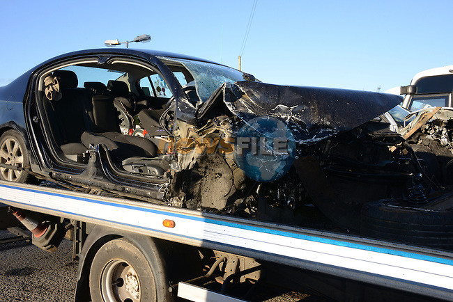 19/11/2013 - one of the cars involved in this morning's crash at Julianstown.