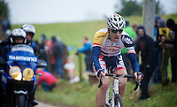 Ronde van Vlaanderen 2013..Jürgen Roelandts' (BEL) decisive solo attack up the Oude Kwaremont on the 3rd (and final) ascent