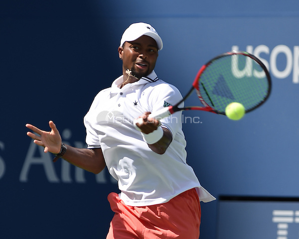 FLUSHING NY- SEPTEMBER 07: Stan Wawrinka Vs Donald Young  on Arthur Ashe Stadium at the USTA Billie Jean King National Tennis Center on September 7, 2015 in Flushing Queens. Credit: mpi04/MediaPunch