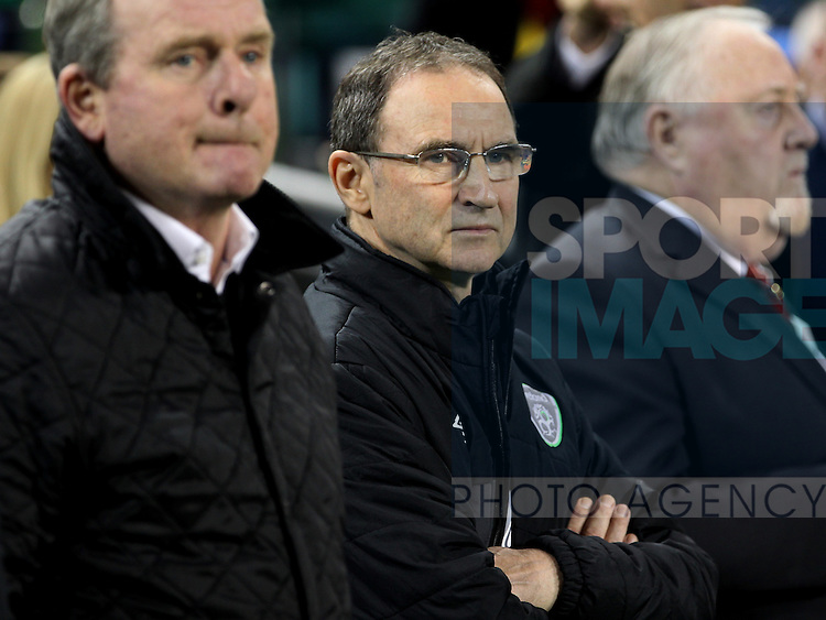 Ireland's Manager Martin O'Neill <br /> - UEFA European Championship Qualifying 2nd Leg - Republic of Ireland v Bosnia Herzegovina - Aviva Stadium - Dublin - Ireland - 16th November 2015 - Pic John Halas/Sportimage