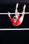 Shiho Nakaji (JPN), <br /> AUGUST 21, 2018 - Artistic Gymnastics : <br /> Women's Individual All-Around Uneven Bars <br /> at JIEX Kemayoran Hall D <br /> during the 2018 Jakarta Palembang Asian Games <br /> in Jakarta, Indonesia. <br /> (Photo by Naoki Nishimura/AFLO SPORT)