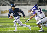 NWA Democrat-Gazette/BEN GOFF @NWABENGOFF<br /> Blaise Wittschen, Springdale Har-Ber quarterback, runs the ball in the first quarter vs Fayetteville Friday, Nov. 2, 2018, during the game at Wildcat Stadium in Springdale.