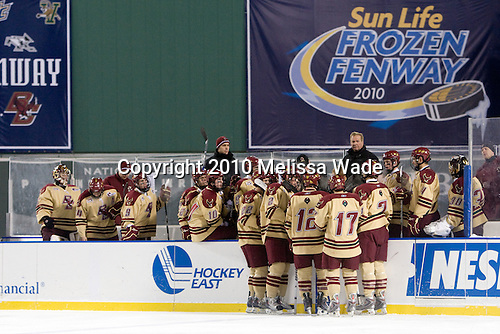 - The Boston University Terriers defeated the Boston College Eagles 3-2 on Friday, January 8, 2010, at Fenway Park in Boston, Massachusetts, as part of the Sun Life Frozen Fenway doubleheader.