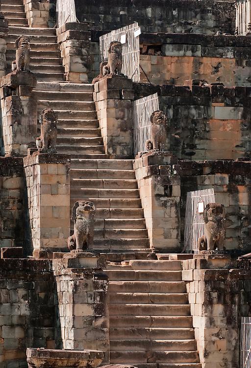 Phnom Bakheng Steps - Phnom Bakheng Temple, Angkor, Siem Reap, Cambodia.