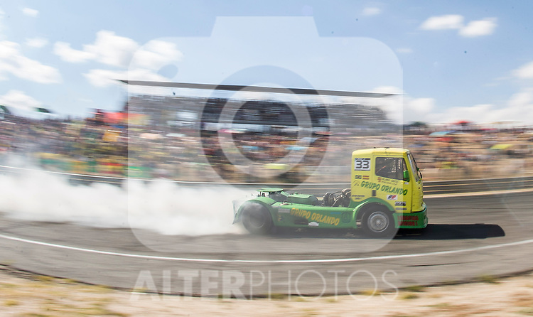 Spanish driver Orlando Rodriguez Ruiz belonging Spanish team Orlando Rodriguez Ruiz during the fist race R1 of the XXX Spain GP Camion of the FIA European Truck Racing Championship 2016 in Madrid. October 01, 2016. (ALTERPHOTOS/Rodrigo Jimenez)