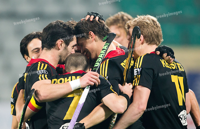 Mens Hockey World league Final Delhi 2014<br /> Day 3 Netherlands v Belgium12-01-2014<br /> <br /> <br /> Photo: Grant Treeby / treebyimages
