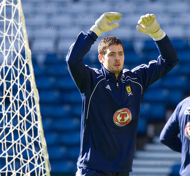Craig Gordon at Scotland training